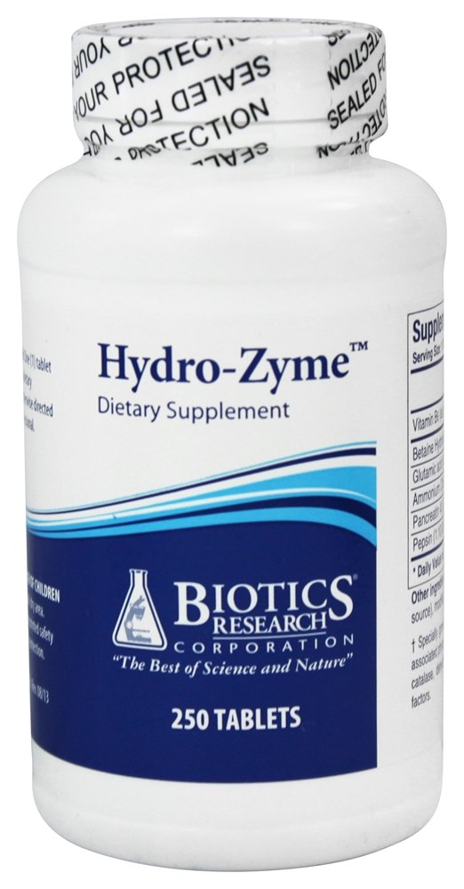 Biotics Research - Hydro-Zyme - 250 Tablets