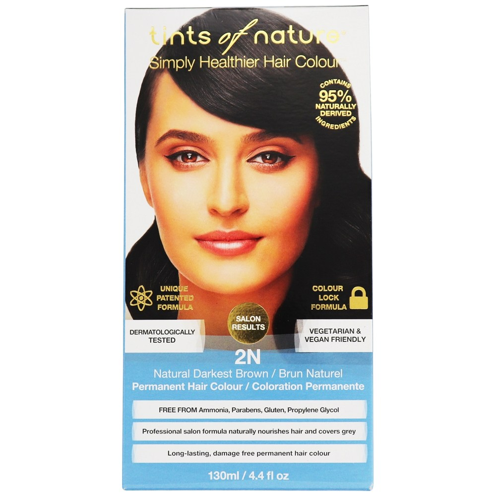 Tints Of Nature - Conditioning Permanent Hair Color 2N Natural Darkest Brown - 4.4 oz. LUCKY PRICE