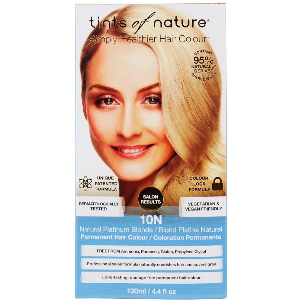 Tints Of Nature - Conditioning Permanent Hair Color 10N Natural Platinum Blonde - 4.4 oz. LUCKY PRICE