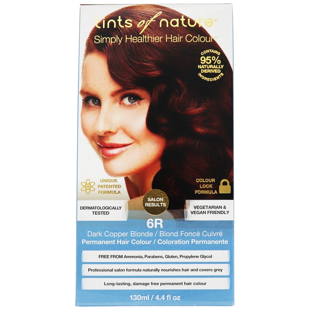Tints Of Nature - Conditioning Permanent Hair Color 6R Dark Copper Blonde - 4.4 oz. LUCKY PRICE