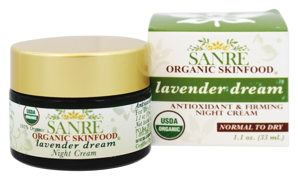 SanRe Organic Skinfood - Lavender Dream Antioxidant & Firming Night Cream - 1.1 oz.