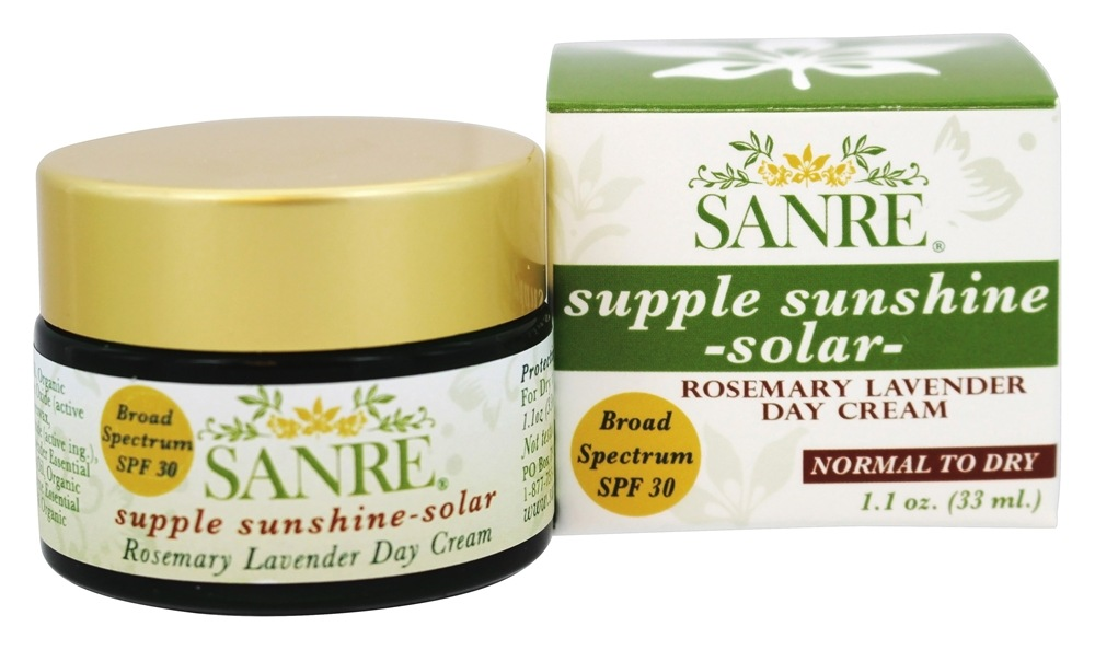 SanRe Organic Skinfood - Supple Sunshine Solar Rosemary Lavender Day Cream 30 SPF - 1.1 oz.