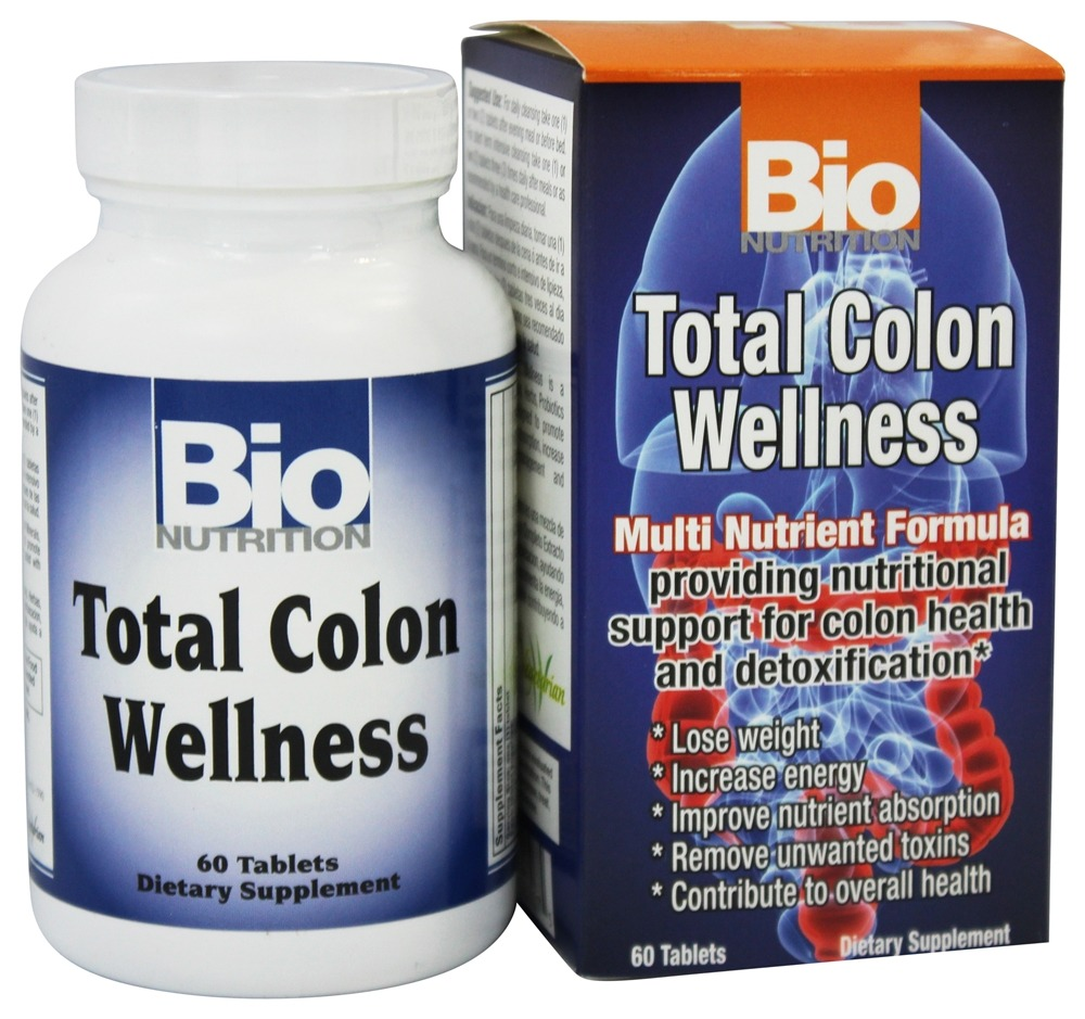 Bio Nutrition - Total Colon Wellness - 60 Tablets