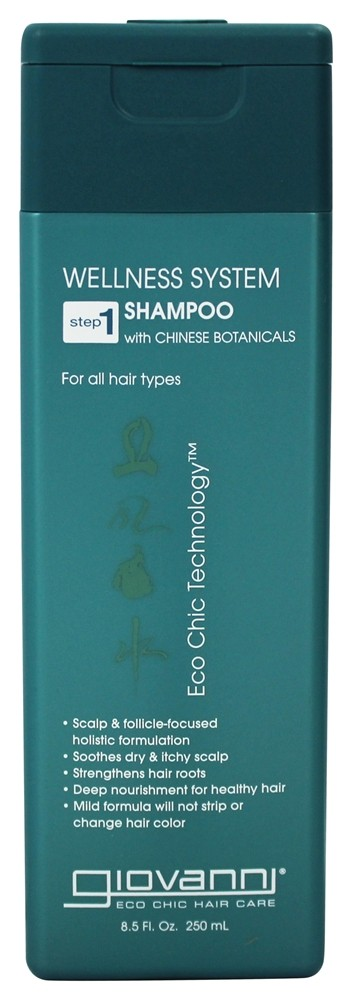 Giovanni - Wellness System Shampoo with Chinese Botanicals Step 1 For All Hair Types - 8.5 oz.