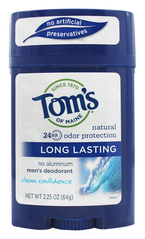 Tom's of Maine - All Natural Long Lasting Men's Wide Deodorant Stick Clean Confidence - 2.25 oz.