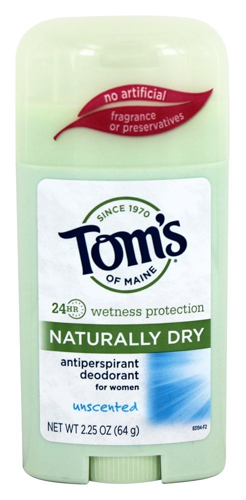 Tom's of Maine - Naturally Dry Antiperspirant Deodorant Stick for Women Unscented - 2.25 oz.