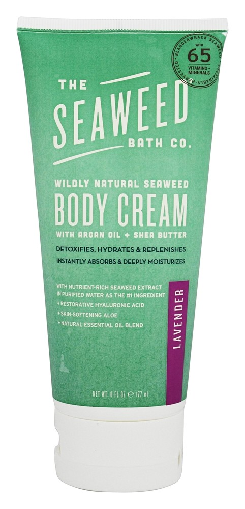 The Seaweed Bath Co. - Wildly Natural Seaweed Body Cream Lavender Scent - 6 oz.