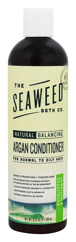 The Seaweed Bath Co. - Natural Balancing Argan Conditioner Eucalyptus & Peppermint Scent - 12 oz.