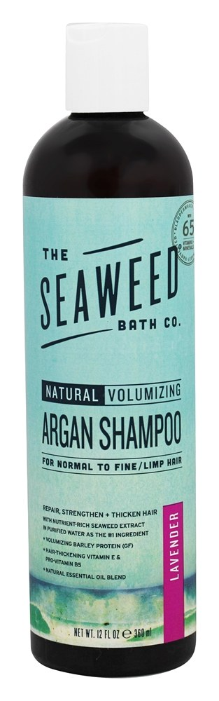 The Seaweed Bath Co. - Wildly Natural Seaweed Volumizing Argan Shampoo Lavender Scent - 12 oz.