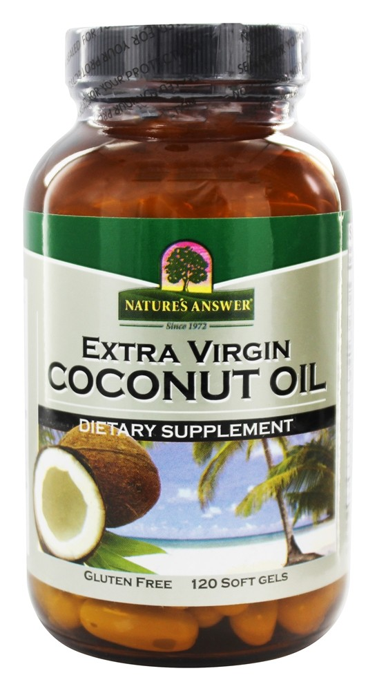 Nature's Answer - Extra Virgin Coconut Oil - 120 Softgels