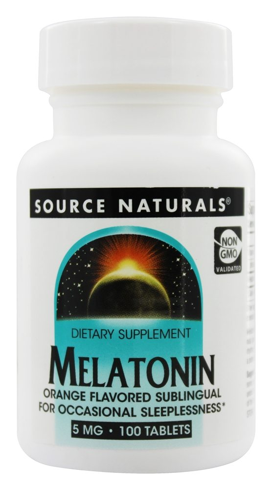 Source Naturals - Melatonin Sublingual Orange 5 mg. - 100 Tablets