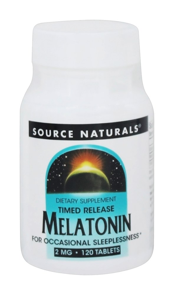 Source Naturals - Melatonin Timed-Release 2 mg. - 120 Tablets