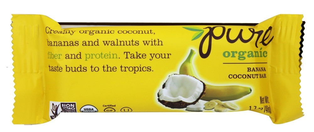 PureBar - Pure Organic Fruit & Nut Bar Banana Coconut - 1.7 oz.
