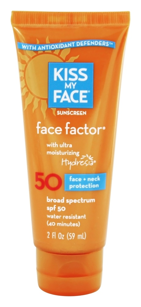 Kiss My Face - Face Factor Face and Neck Sunscreen with Hydresia 50 SPF - 2 oz.