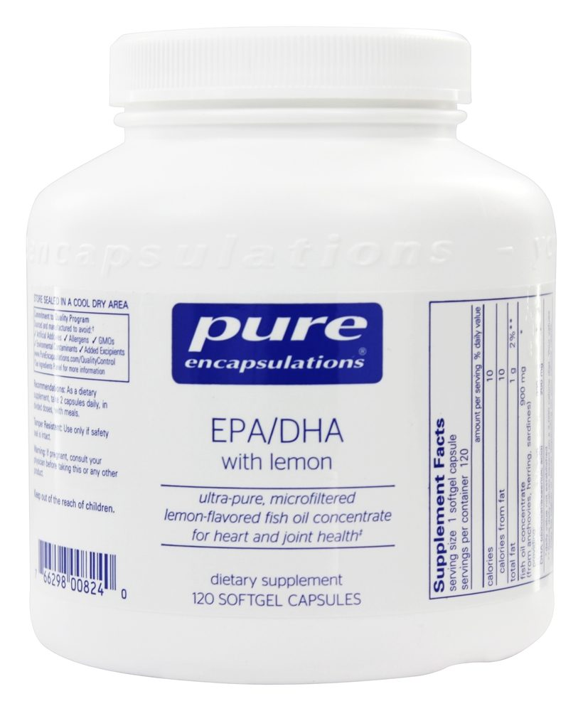 Pure Encapsulations - EPA/DHA with Lemon - 120 Softgels