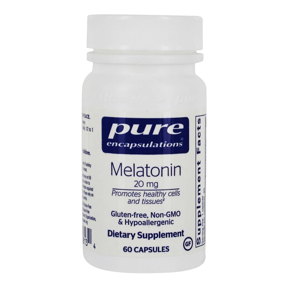 Pure Encapsulations - Melatonin 20 mg. - 60 Vegetarian Capsules