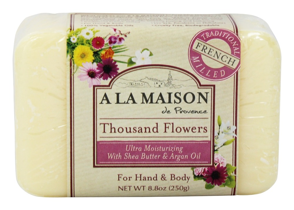 Buy a la maison traditional french milled bar soap for A la maison thousand flowers