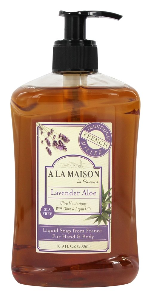 A La Maison - Traditional French Milled Liquid Soap Lavender Aloe - 16.9 oz.