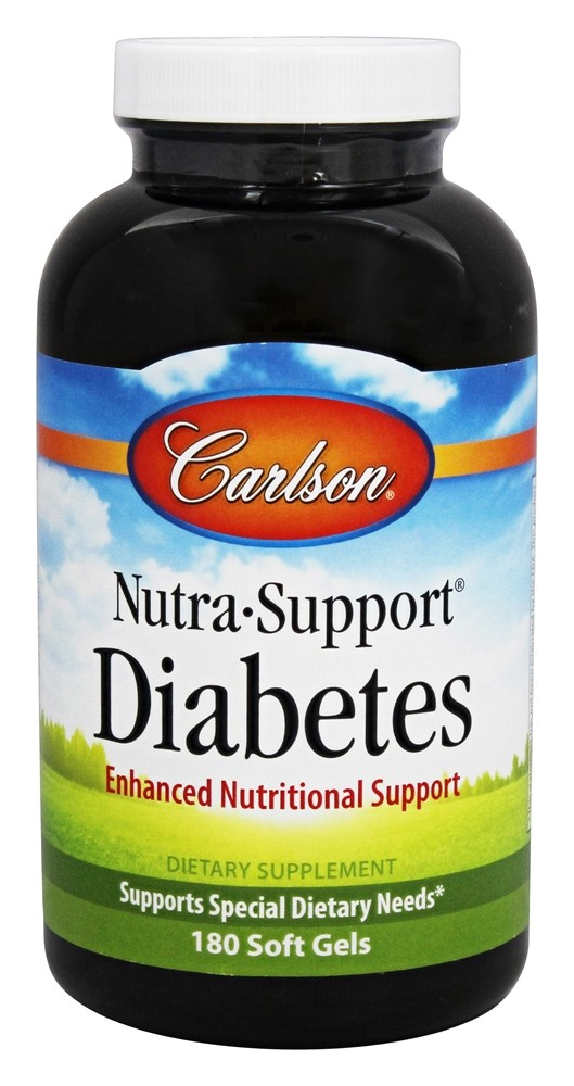 Carlson Labs - Nutra-Support Diabetes - 180 Softgels