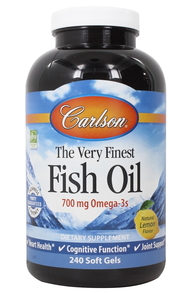 Carlson Labs - The Very Finest Fish Oil Lemon Flavor 1000 mg. - 240 Softgels