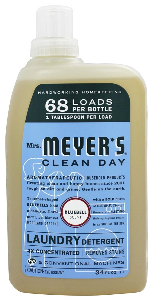 Mrs. Meyer's - Clean Day Laundry Detergent Bluebell - 34 oz.