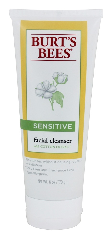Burt's Bees - Sensitive Facial Cleanser with Cotton Extract - 6 oz.