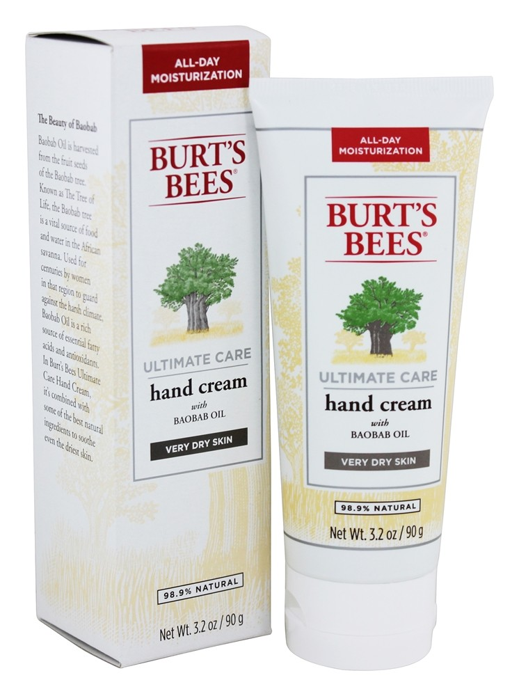 Burt's Bees - Ultimate Care Hand Cream With Baobab Oil - 3.2 oz.