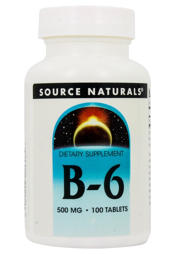 Source Naturals - B-6 Timed Release 500 mg. - 100 Tablets