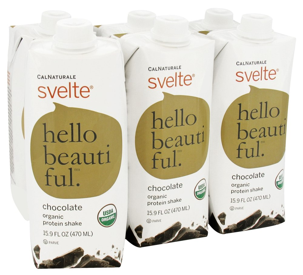 CalNaturale - Svelte Vegan Organic Protein Drink 6 x 15.9 oz RTD Chocolate - 6 Pack
