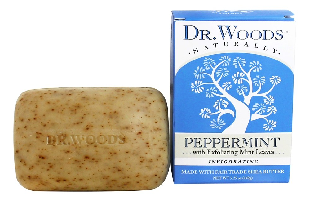 Dr. Woods - 100% Natural Castile Bar Soap Peppermint - 5.25 oz.