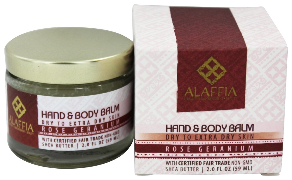 Alaffia - Hand and Body Balm Shea Butter Rose Geranium - 2 oz.