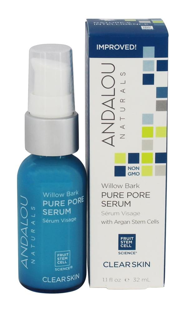 Andalou Naturals - Clarifying Willow Bark Pure Pore Serum - 1.1 oz.