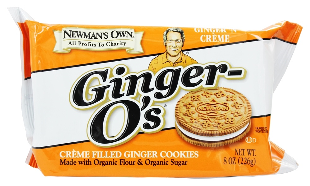 Newman's Own Organics - Ginger O's Creme Filled Ginger Cookies Ginger 'N Creme - 8 oz.