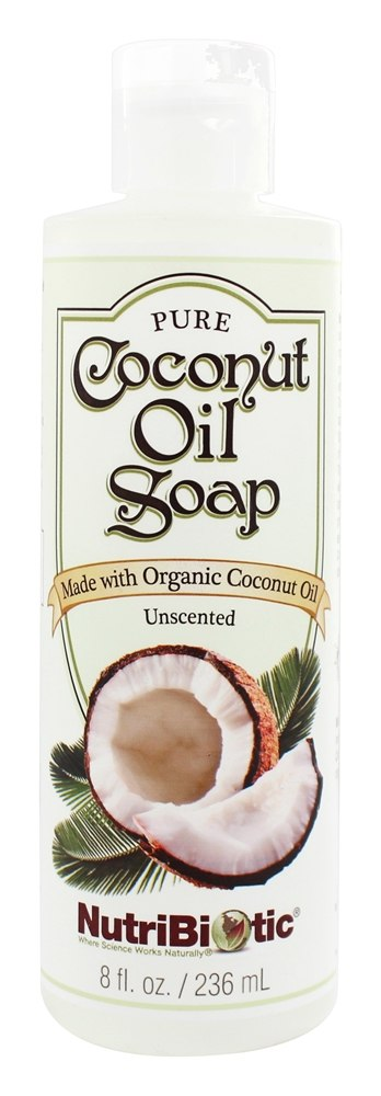 Nutribiotic - Pure Coconut Oil Soap Unscented - 8 oz.