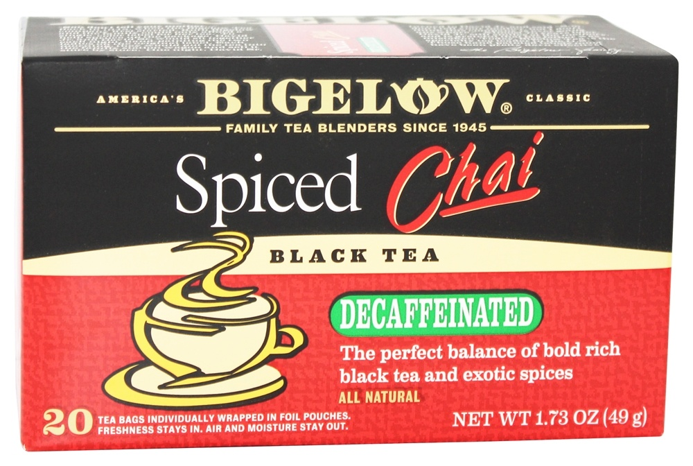 Bigelow Tea - Chai Tea Decaffeinated Spiced - 20 Tea Bags