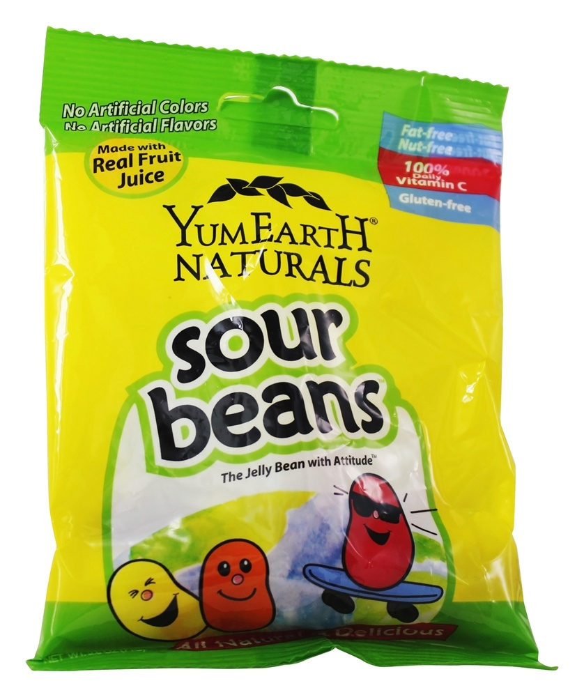 Yum Earth - All Natural Gluten Free Sour Jelly Beans - 2.5 oz.