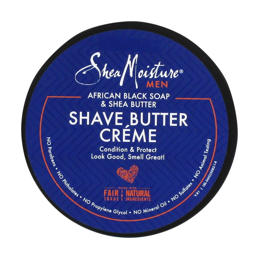 Shea Moisture - African Black Soap Shave Butter Creme for Men - 6 oz.