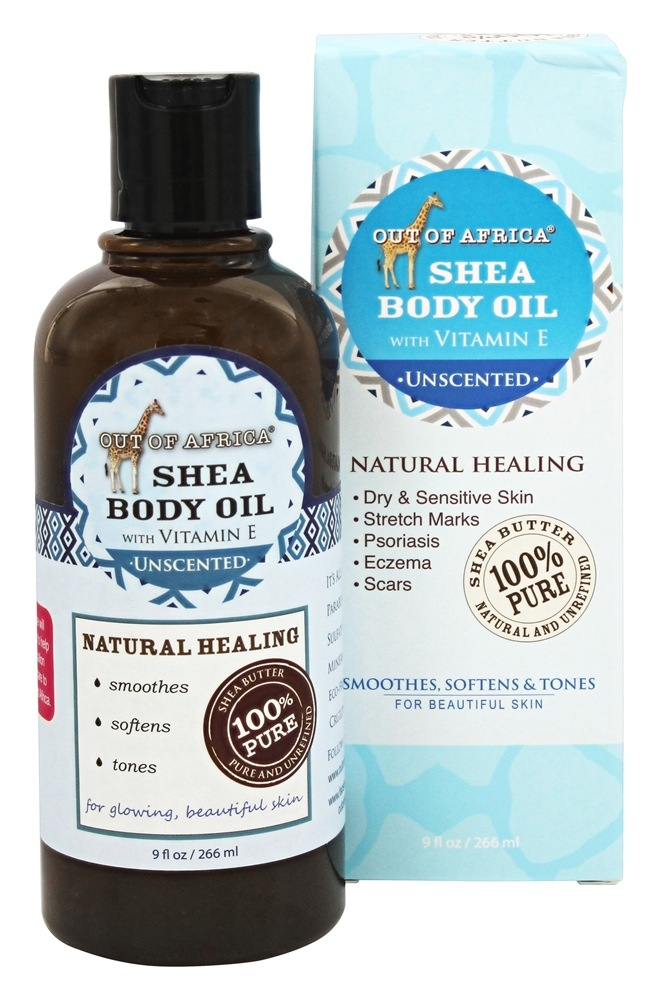 Out Of Africa - Pure Shea Body Oil Unscented - 9 oz.