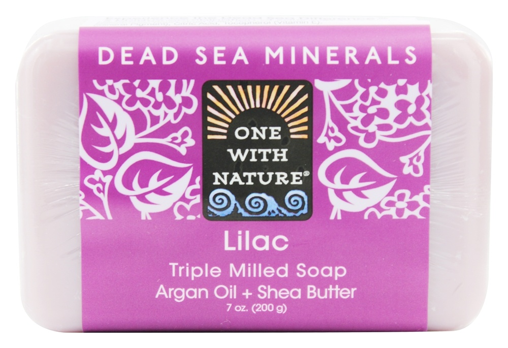 One With Nature - Dead Sea Minerals Triple Milled Bar Soap Lilac - 7 oz.