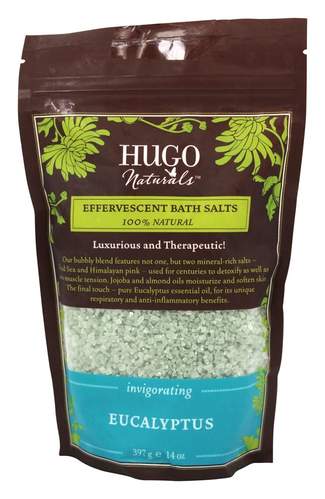 Hugo Naturals - Effervescent Bath Salts Invigorating Eucalyptus - 14 oz.