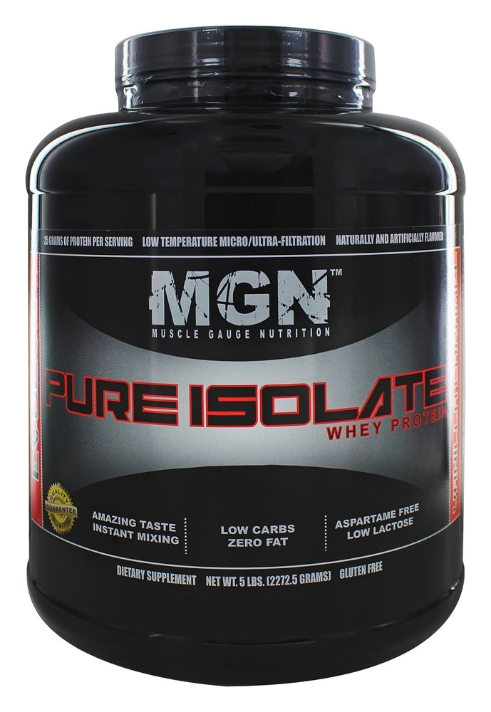 Muscle Gauge Nutrition - Pure Isolate Whey Protein Vanilla Caramel - 5 lbs.
