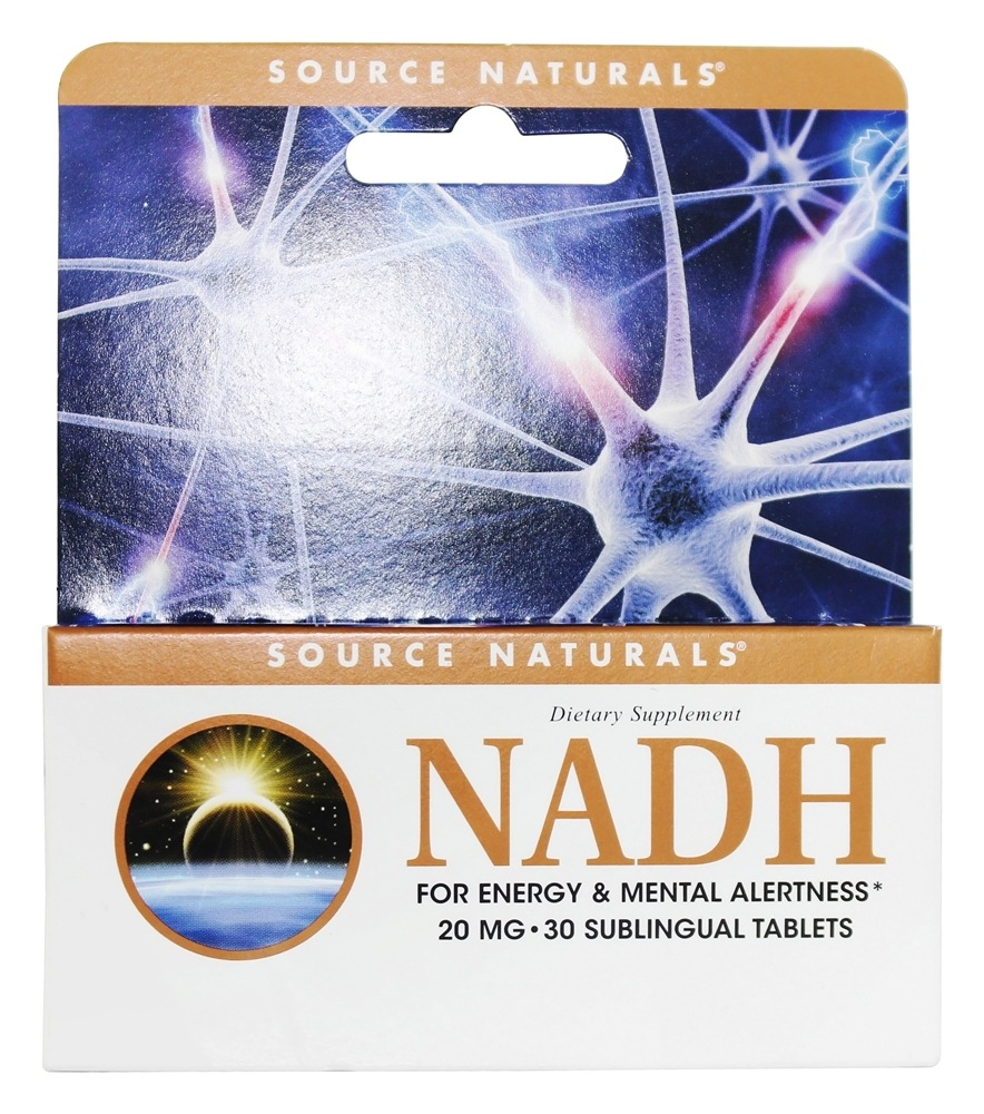 Source Naturals - NADH 20 mg. - 30 Enteric-Coated Tablets