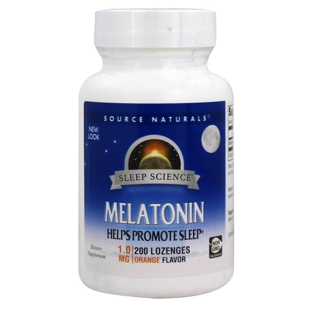 Source Naturals - Melatonin Sublingual Orange Flavored 1 mg. - 200 Tablets