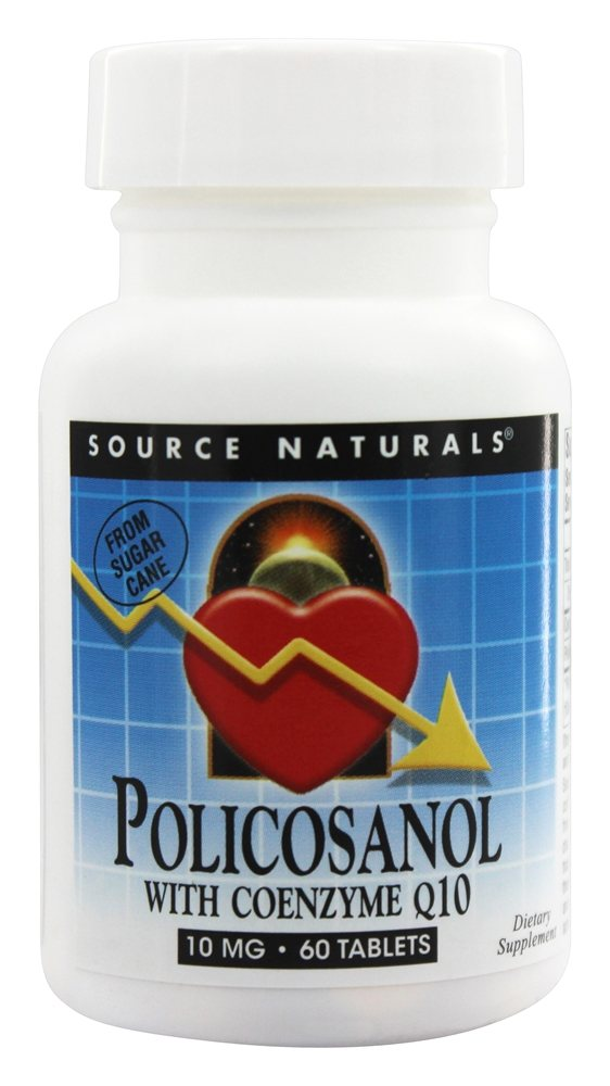 Source Naturals - Policosanol with Coenzyme Q10 10 mg. - 60 Tablets