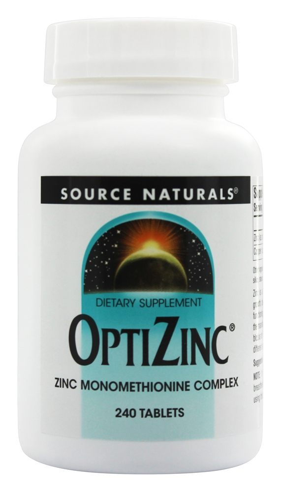 Source Naturals - OptiZinc 30 mg. - 240 Tablets