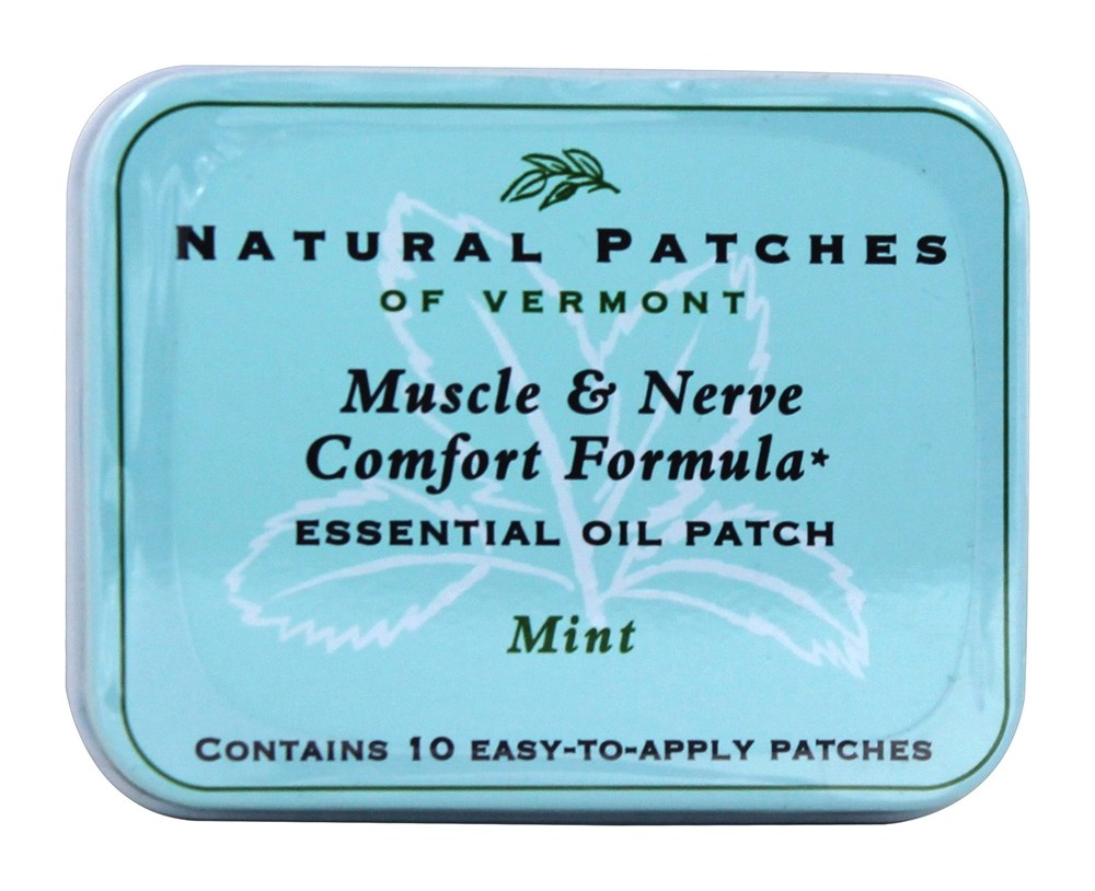 Natural Patches of Vermont - Fibromyalgia Formula Essential Oil Body Patches Mint - 10 Patch(es)