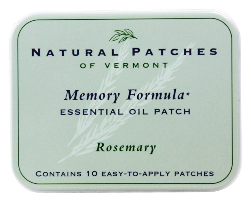 Natural Patches of Vermont - Memory Formula Essential Oil Body Patches Rosemary - 10 Patch(es)