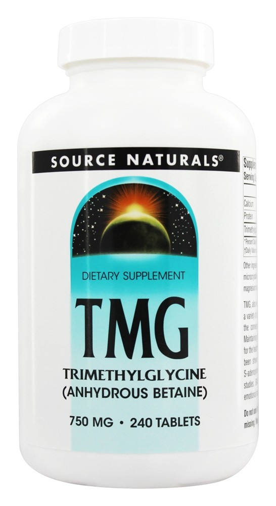 Source Naturals - TMG Trimethylglycine 750 mg. - 240 Tablets