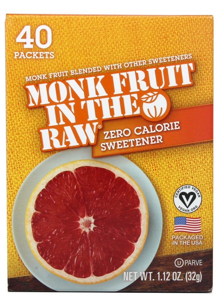 In The Raw - Monk Fruit In The Raw Natural Sweetener - 40 Packet(s)