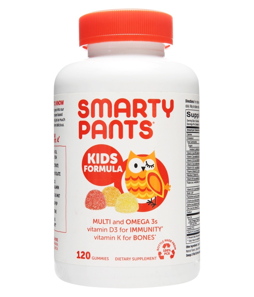 SmartyPants - All-in-One Multivitamin + Omega 3 + Vitamin D For Kids - 120 Gummies